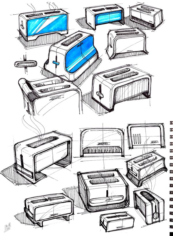 SKETCHBOOK by Mike Serafin, via Behance