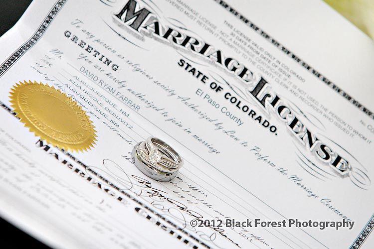 el paso county colorado marriage licence