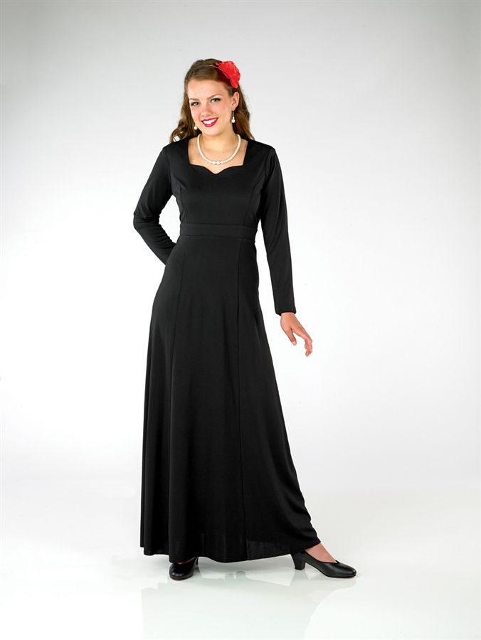 Long black dresses for orchestra