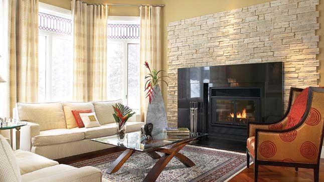 Photo foyer contemporain recherche google foyer en pierre deco salon foyer et salons - Decoration foyer salon ...