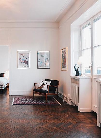 studio karin m rkt parkettgolv moodboard home pinterest interi rer inredning och sovrum. Black Bedroom Furniture Sets. Home Design Ideas