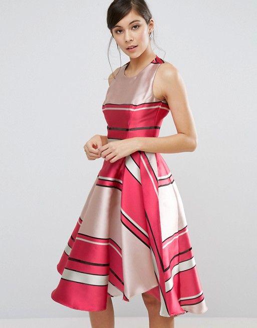 472d4b7d1251 Coast Bay Shore Stripe Dress | Occasion Dresses: Long Skater Dresses ...