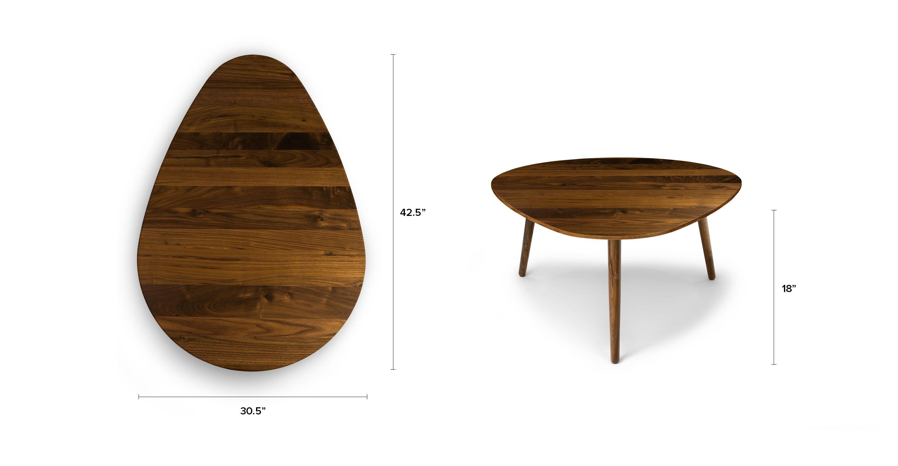 "Amoeba Wild Walnut 42 5"" Wide Coffee Table"