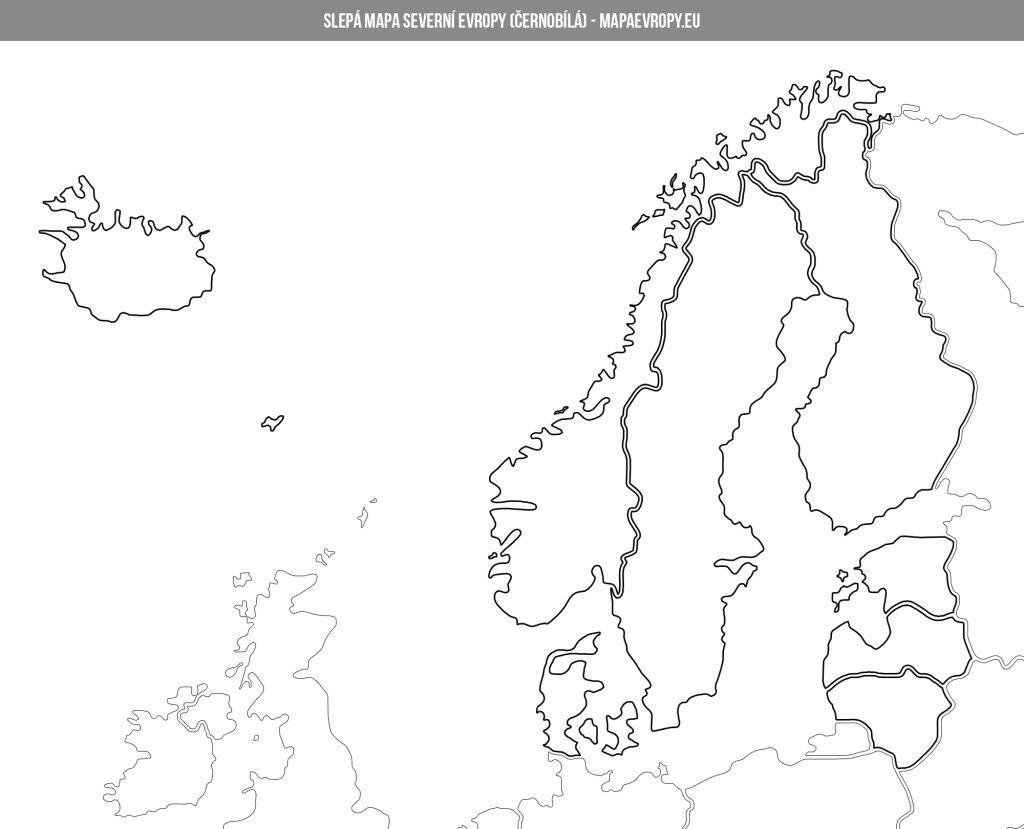Mapa Severni Evropy Politicka A Slepa Mapa Evropa