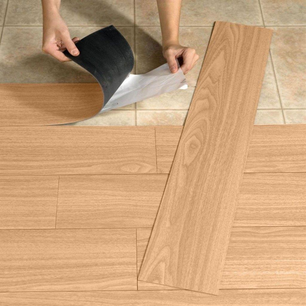 how to install peel and stick floor tile Badkamer en
