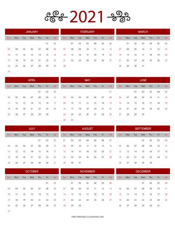 Pin oleh Calendar Design di Printable Calendar Design di 2020
