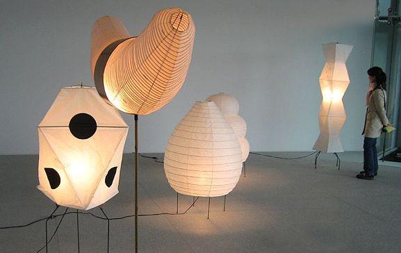 Akari Noguchi Lamp Uf3 Q Noguchi Lamp Lamp Large Floor Lamp