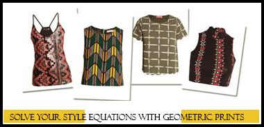 Geometric Prints are Sizzling Hot This Summer! Shop this trend on http://www.dress4less.co.in/shop-by-trend/geometric-trend