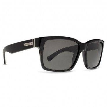 Von Zipper Sunglasses Elmore Black Gloss Vintage Grey At Hansen's Surf Shop