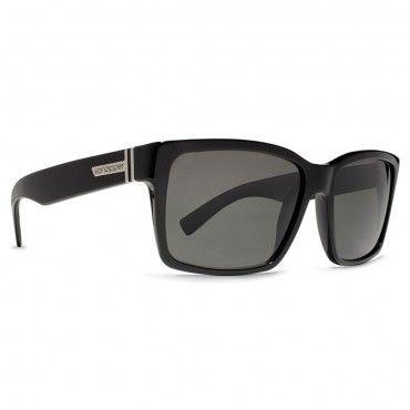 Von Zipper Sunglasses Elmore Black Gloss Vintage Grey