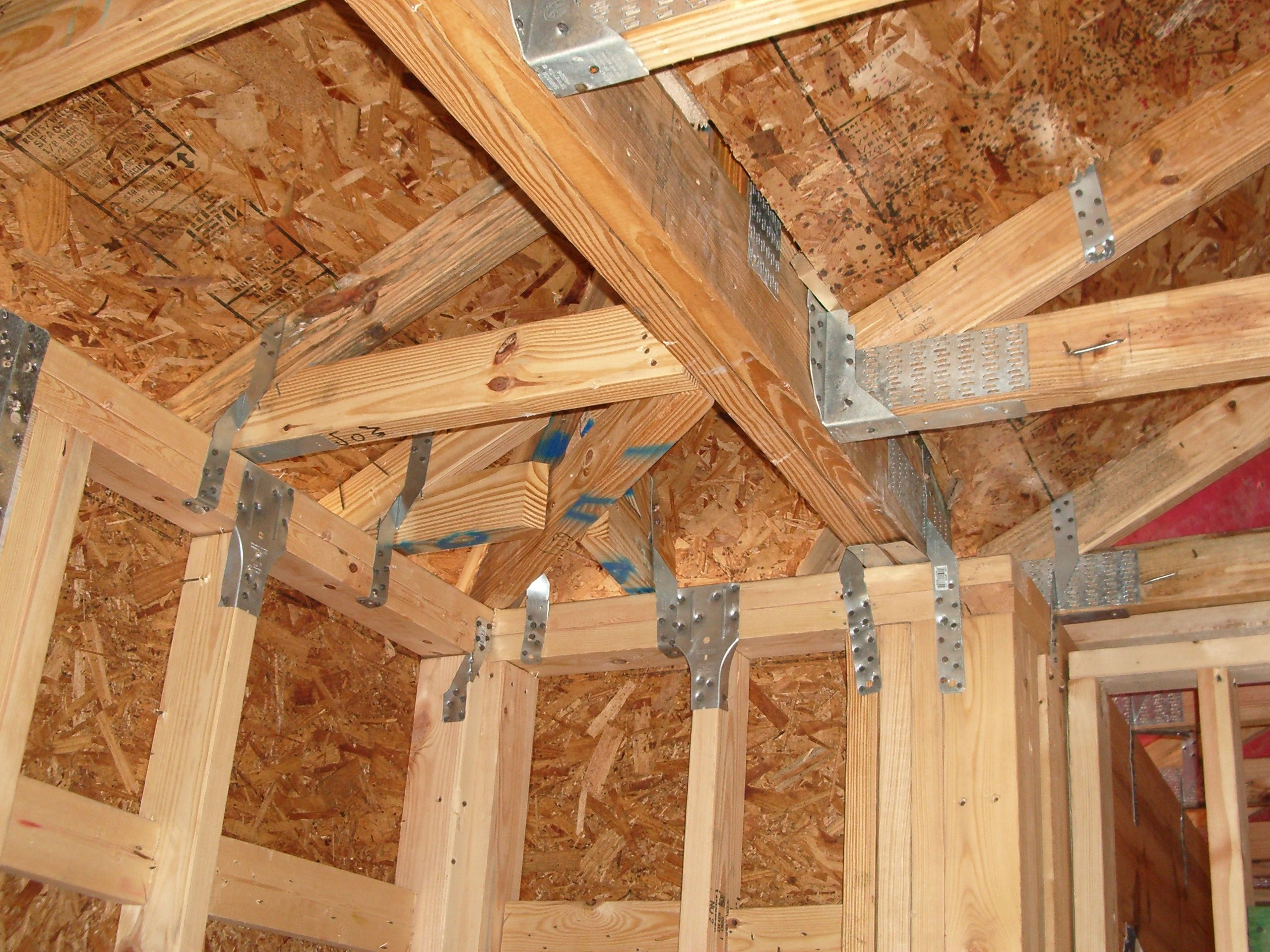 Truss hardware straping under construction pinterest for Stress skin panels cost