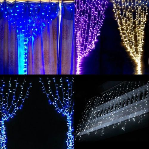 6Mx2.5M 720LED Indoor/Outdoor String Curtain Light Lamp For Christmas Decoration