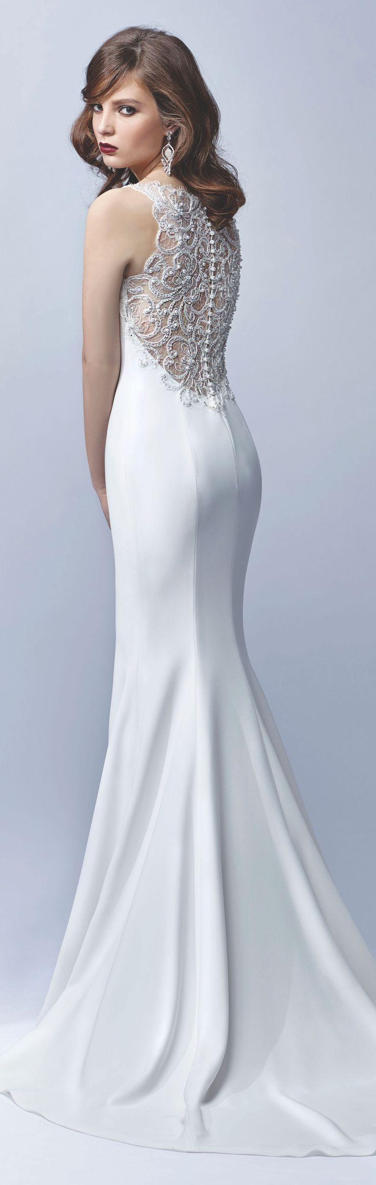 Beautiful slim line wedding dress. Enzoani 2017 Blue Collection ...