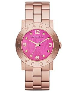 Marc by Marc Jacobs Women's Amy Rose Gold-Tone Stainless Steel Bracelet Watch 36mm MBM8625