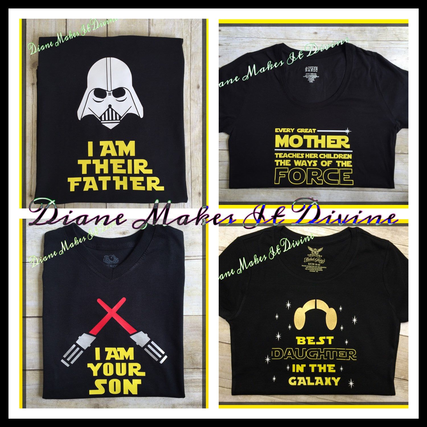 Star wars family shirts matching disney shirts star wars shirt i am their father i am his son