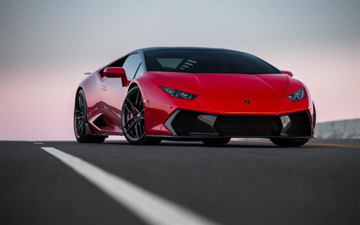 Download Wallpapers Lamborghini Huracan Novara Vag Red Huracan