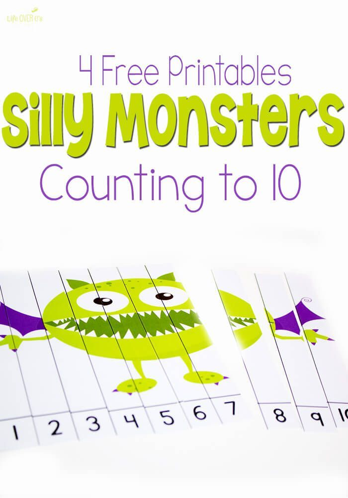 4 Free Silly Monster Printables for Counting to 10 | Monster ...