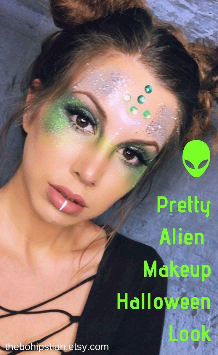 Alien Costume Women Glitter Makeup Alien Makeup Cosmetic