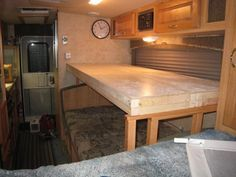 Creating A Bunk Bed Over A Dinette In A Trailer Rv Redo