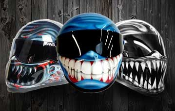 World Famous Custom Motorcycle Helmets Airbrushing Specialists