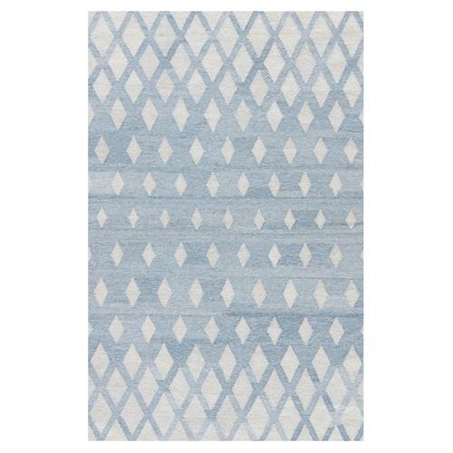 Gene Modern Classic Blue Ivory Diamond Patterned Outdoor Rug 5 X 8 In 2020 Blue Ivory Outdoor Rugs Classic Blue