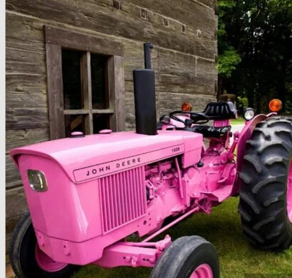 Take a ride on my pink tractor