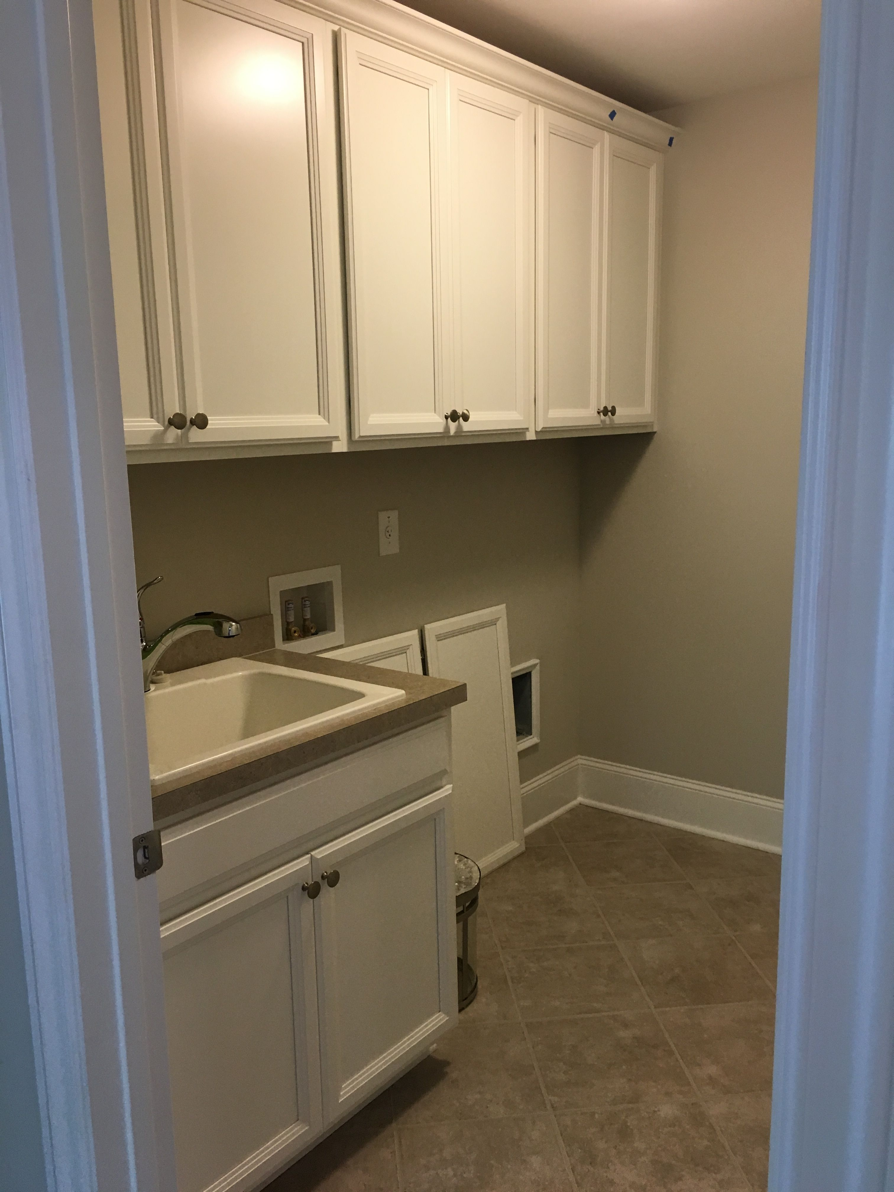 Laundry Room With Standard Base Cabinet Upgrade Sink And