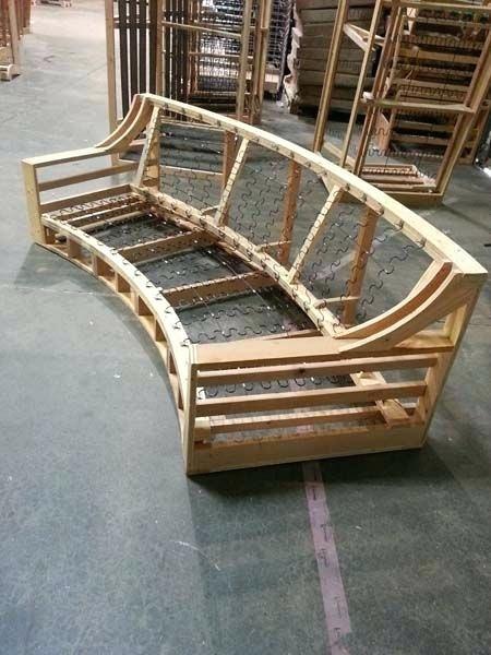 Elegant How To Build A Sofa Frame And Custom Sofa Made From Lumber 11 Build Sofa Bed Frame Custom Sofa Sofa Frame Built In Sofa