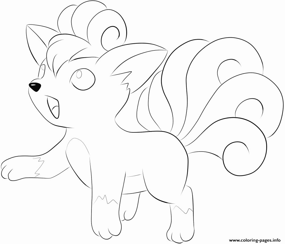 Alolan Vulpix Coloring Page Best Of Best How To Draw A A Vulpix From Pokemon Sun And Moon Mandala Coloring Pages Unicorn Coloring Pages Horse Coloring Pages