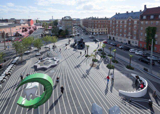 superkilen park entre los cinco finalistas del premio mies van der rohe