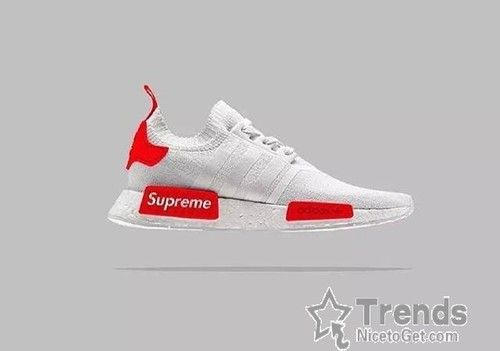 on sale 94869 7e5db Adidas Originals NMD Supreme White Red - NMD Runner   shoes   Sneaker  boots, Adidas nmds, Adidas sneakers