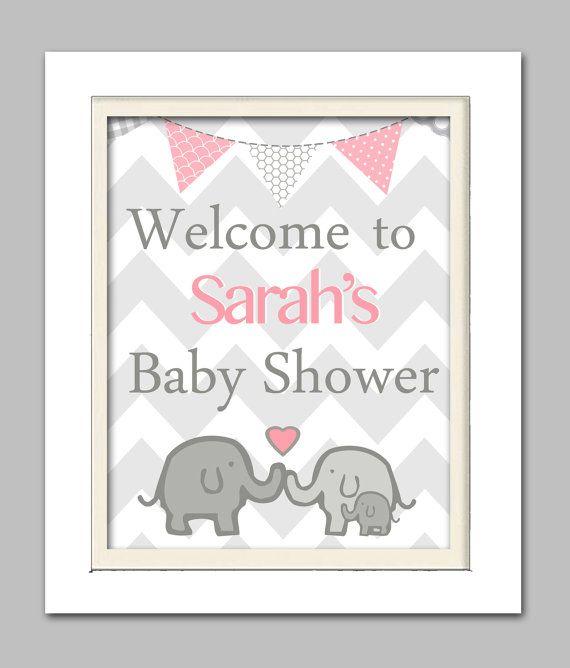 Gianna S Pink And Gray Elephant Nursery Reveal: Elephant Baby Shower Decorations, Elephant Baby Shower