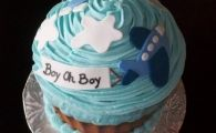 """ It's A Boy "" baby shower cupcakes  by graceandshelleycupcakes"