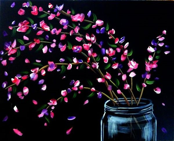 45 Beautiful Examples Of Acrylic Painting Flower Art Painting