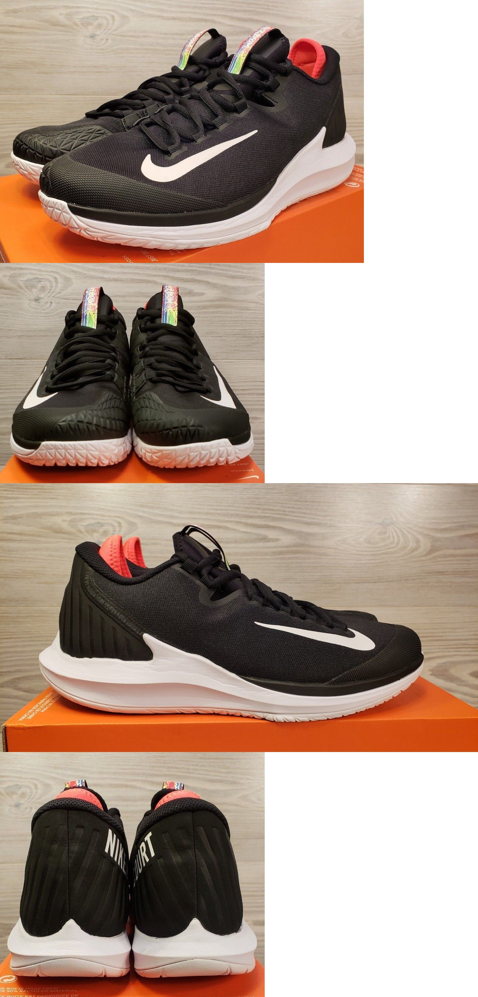72909e1a8c6 Clothing Shoes and Accessories 62229  Nike Court Air Zoom Zero Hc Tennis  Shoes Black White Aa8018-006 Mens 8.5 Wmns 10 -  BUY IT NOW ONLY   109.99  on eBay!