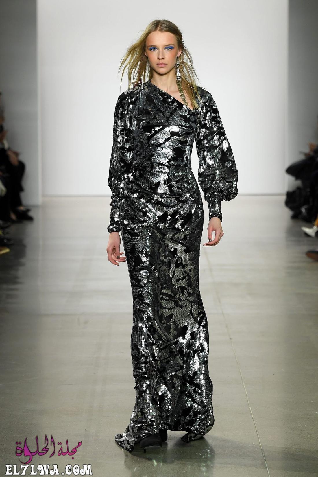 اجمل فساتين سهرة 2021 موديلات فساتين سهرة موضة 2021 قد م المصممون مجموعة من أجمل فساتين سهرة لعام ٢٠٢١ Beautiful Evening Dresses Fashion New York Fashion Week