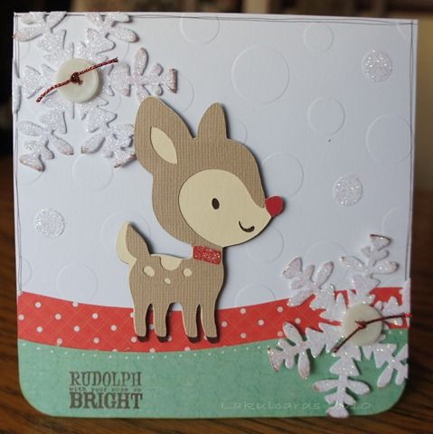 Snowflake and reindeer create a critter