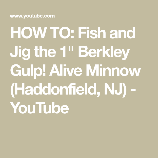 HOW TO: Fish and Jig the 1