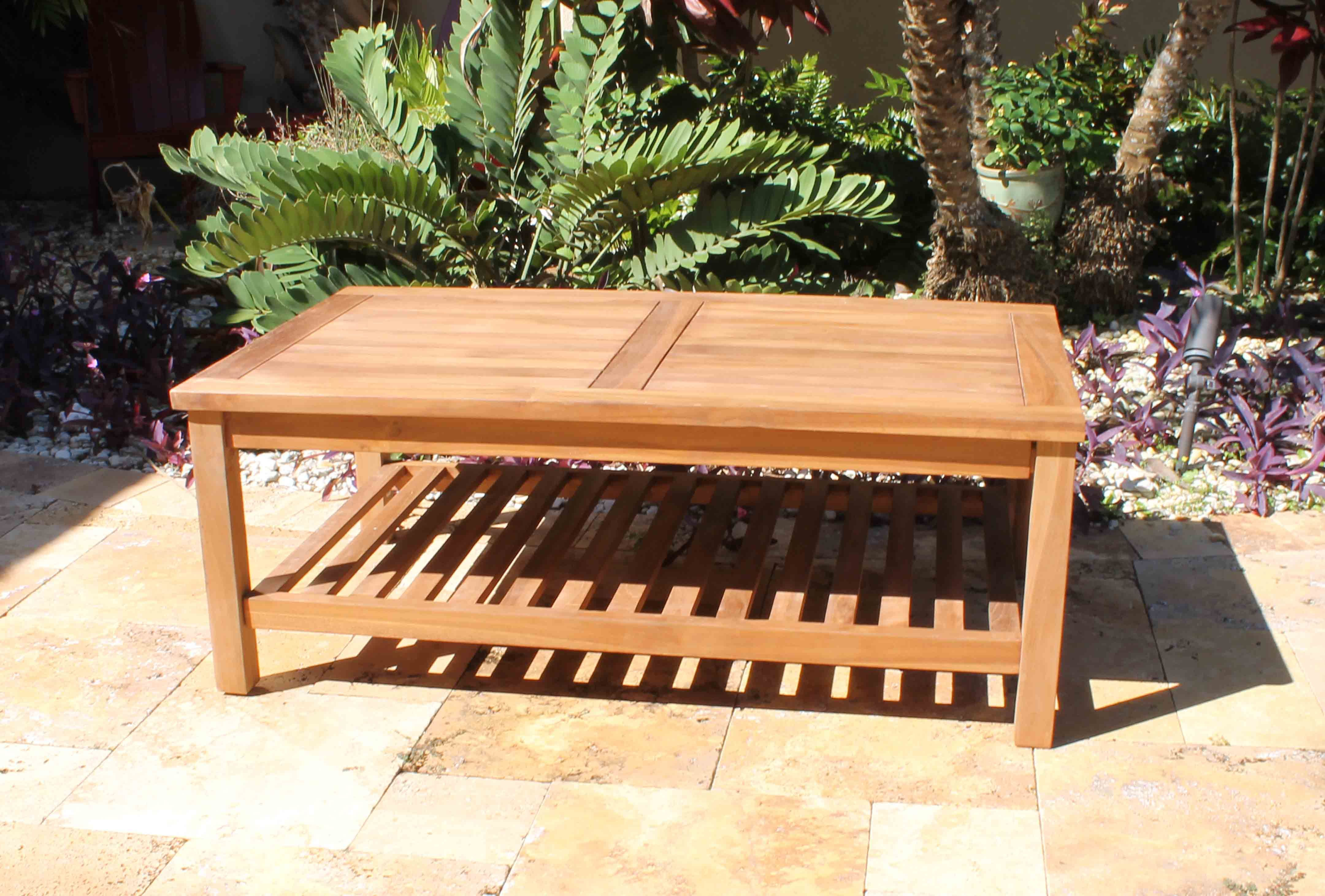Teak Coffee Table 48in | Coffee table, Teak coffee table ...