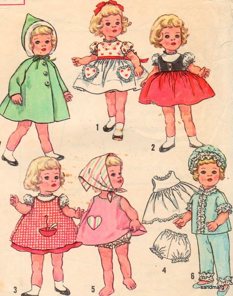 vintage simplicity 4652 chatty cathy doll clothes sewing