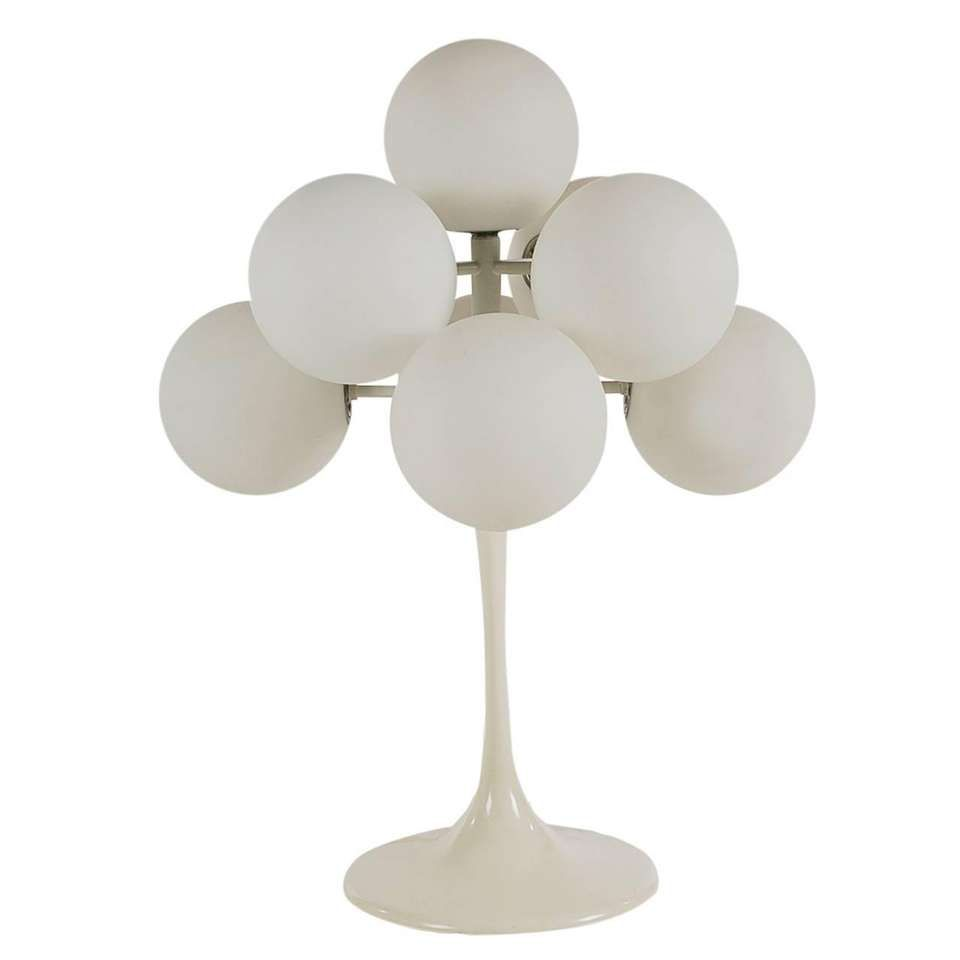 Mid Century Modern Tulip Table Lamp By Max Bill In White