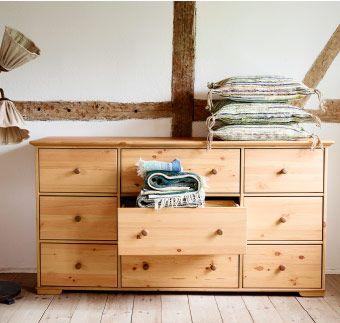 hurdal kommode mit 9 schubladen in hellbraun ikea schlafzimmer tr ume pinterest ikea. Black Bedroom Furniture Sets. Home Design Ideas
