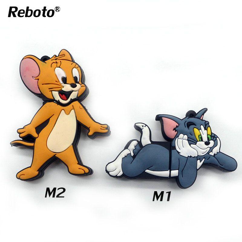 New Cute Cat Tom cartoon model USB2.0 16GB flash drive memory stick pen drive