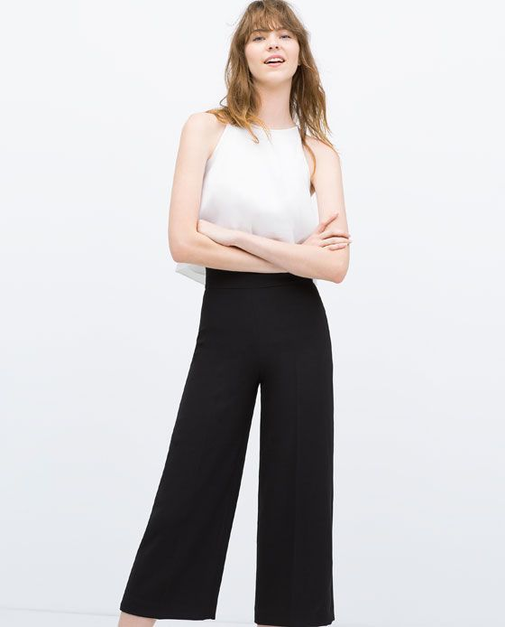 35361652 Image 3 of CROPPED HIGH WAISTED TROUSERS from Zara | waRdRobINg ...