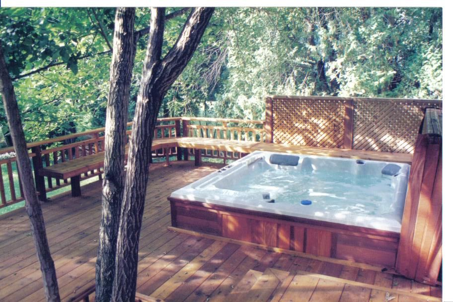 Image Of Hot Tub Deck Plans Deck Inspirations And Ideas
