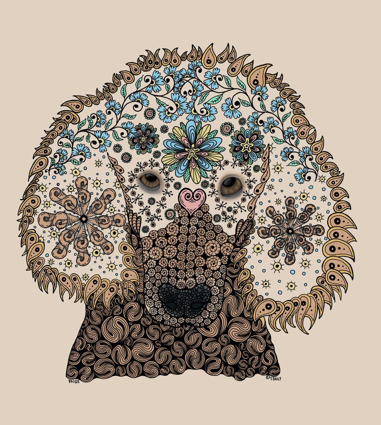 Paige - Zentangle Poodle   Zentangle pins   Pinterest   Doodle ...
