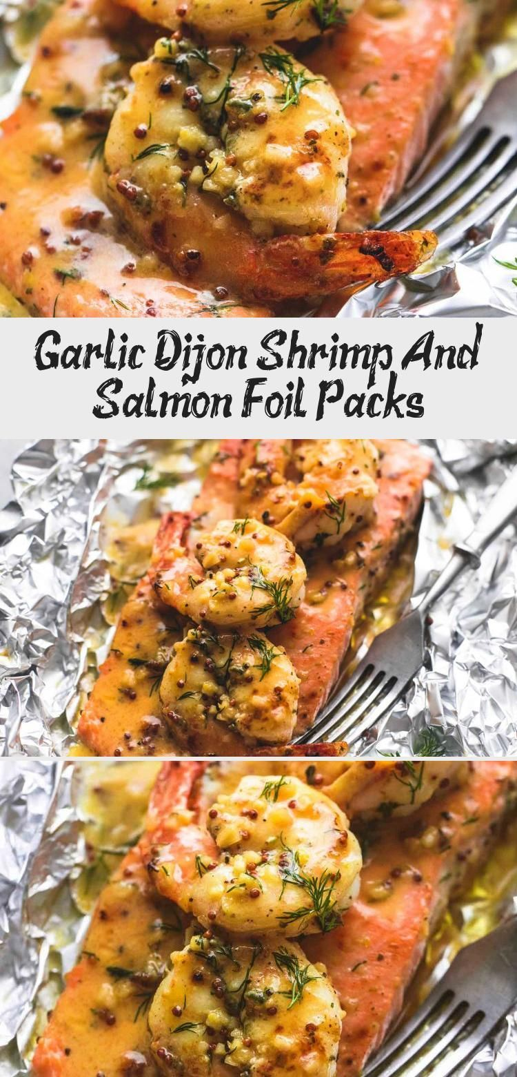 Photo of Garlic Dijon Shrimp And Salmon Foil Packs – Recipe