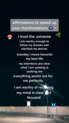 Affirmations To Speed Up Your Manifestations!