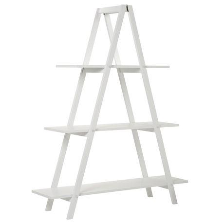 A Frame Bookshelf White