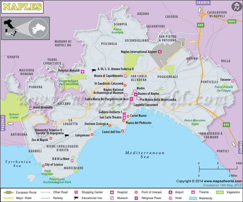 Map of Naples City Italy Maps Of World Pinterest Naples